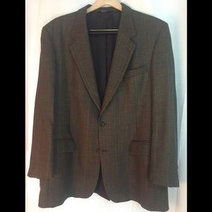 Jos A Bank houndstooth wool sport coat